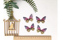 Бабочка двусторонняя из шифона графит 45*36см