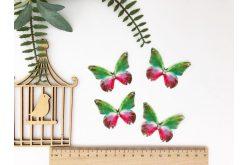 Бабочка двусторонняя из шифона зелено-червоний 45*36см
