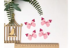 Бабочка двусторонняя из шифона розовая 45*36см
