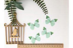 Бабочка двусторонняя из шифона салатовая 45*32см