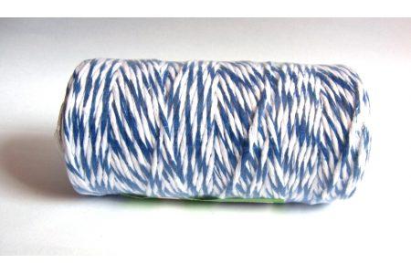 Шпагат котоновый 1,0мм бело-синий
