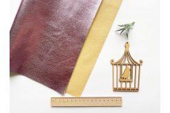 Шкірзамінник глянцевий на тканинній основі 30*20см