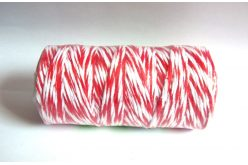 Шпагат котоновий 1,0мм біло-червоний