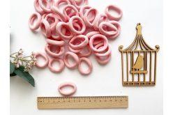 Резинка бесшовная для волос 3,5 см нежно-розовая