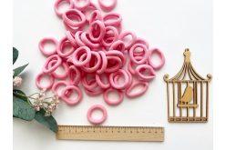 Резинка бесшовная для волос 3,5 см розовая
