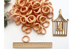 Резинка бесшовная для волос 3,5 см персиковая