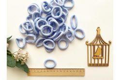 Резинка бесшовная для волос 3,5 см светло-голубая
