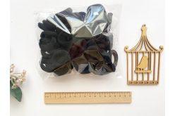 Резинка безшовна для волосся 3,5 см чорна (уп. 75шт.)