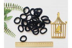 Резинка безшовна для волосся 3,5 см чорна