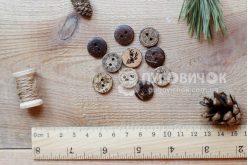 Гудзик круглий 15мм кокосовий