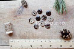 Гудзик круглий 13мм кокосовий