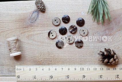 Пуговица круглая 13мм кокосовая