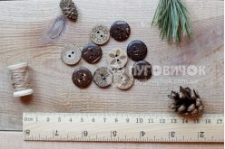 Гудзик круглий 18мм кокосовий