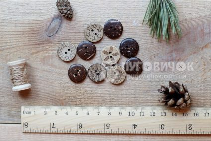 Пуговица круглая 18мм кокосовая