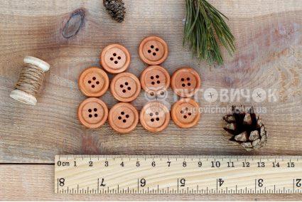 Пуговица круглая 20мм деревянная лакированная