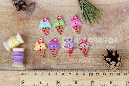 """Пуговица """"Мороженое рожок"""" 30*19мм"""