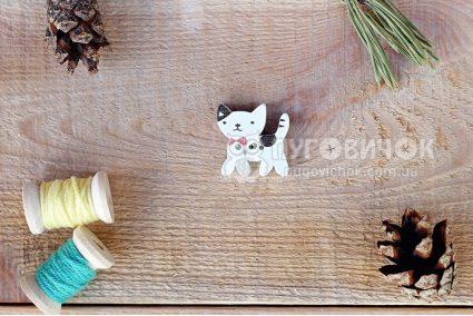 """Гудзик """"Кіт"""" 24*24мм"""