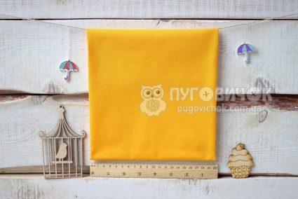 Ткань польская однотонная жёлтая
