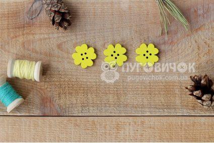 """Гудзик """"Квітка"""" 4 пелюстки 19,6*19,6мм"""