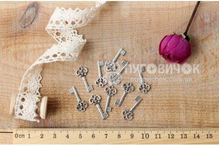 """Підвіска """"Ключ"""" 21*10мм металічна срібна"""