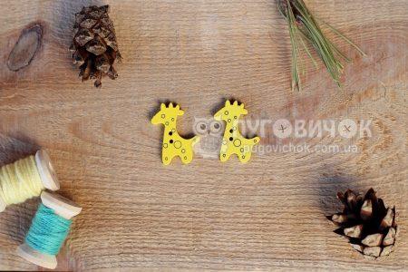 """Пуговица """"Жираф"""" 24,8*20мм"""