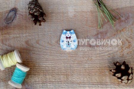 """Гудзик """"Кіт усміхнений"""" 25*23мм"""