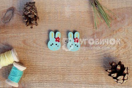 "Пуговица ""Кролик"" 25*16мм"
