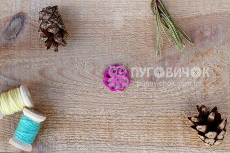 """Пуговица """"Цветок ажурный"""" 20*20мм"""