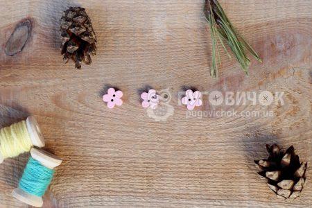 """Гудзик """"Квітка"""" 5 пелюсток 11*11мм"""