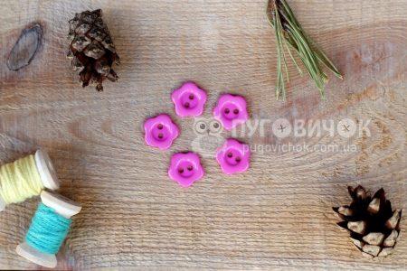 """Гудзик """"Квітка"""" 14*14мм пластиковий"""