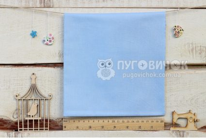 Ткань однотонная голубая