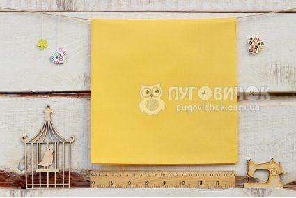 Ткань однотонная жёлтая