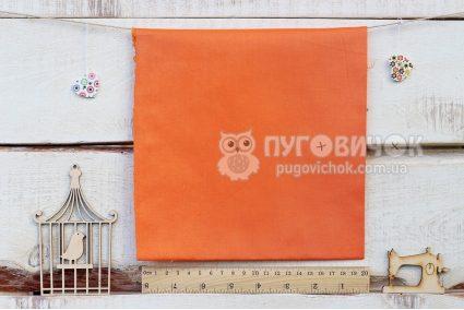 Ткань однотонная оранжевая