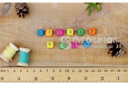 Намистина кубічна цифра 10*9мм