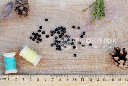 Бусина шар 4мм черная
