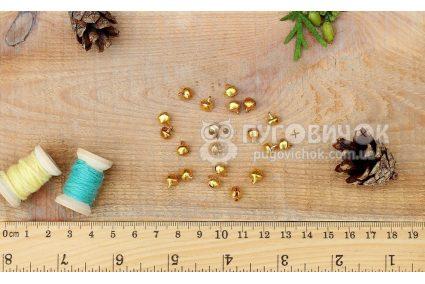 Звоночек 6мм золотой