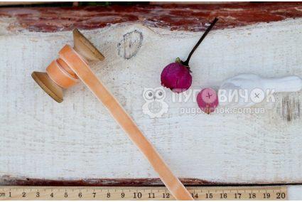 Стрічка оксамитова 10мм персикова