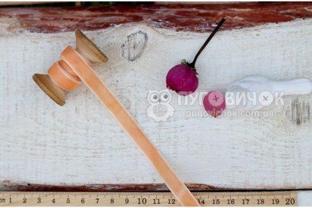 Лента бархатная 10мм персиковая