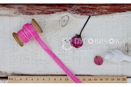 Лента бархатная 10мм розовая