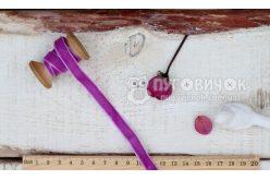 Лента бархатная 10мм фиолетовая