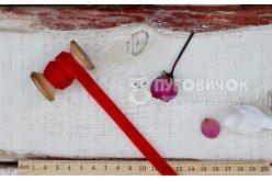 Лента бархатная 10мм красная