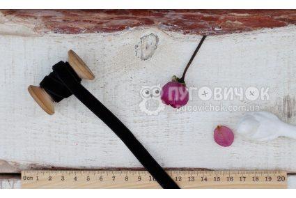 Стрічка оксамитова 10мм чорна