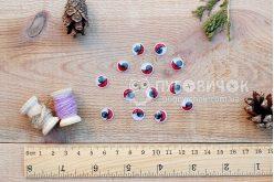Очі декоративні круглі з віями 10мм (2 шт.)