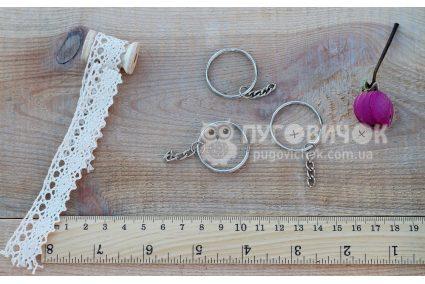 Заготовка для брелка 52*28мм серебряная