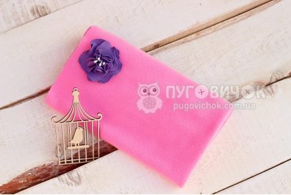 Флис розовый
