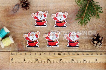 """Гудзик """"Санта Клаус"""" 37*35мм"""