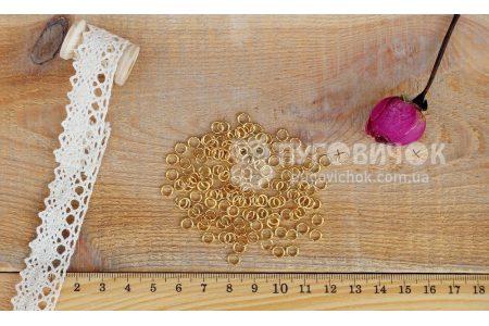 Кольцо металлическое 5мм золотое