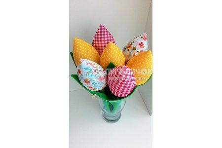 Тюльпаны текстильные в ассортименте