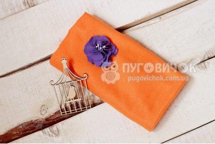 Флис оранжевый