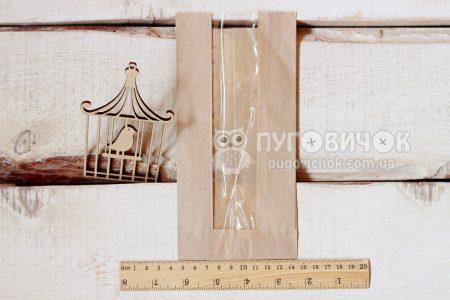 Крафт-упаковка 20,7*10*4,5см бежевая с окошком